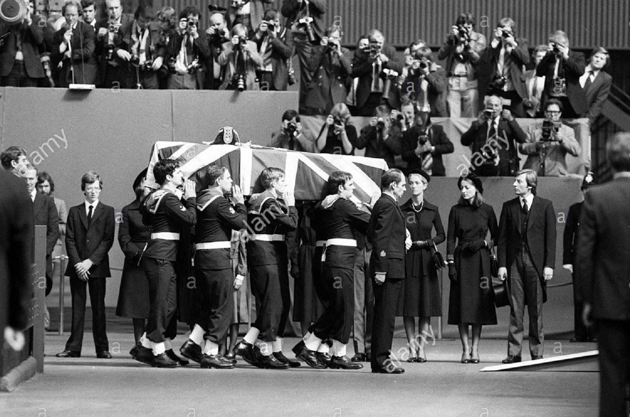 The Ceremonial Funeral Of Lord Louis Mountbatten Of Burma